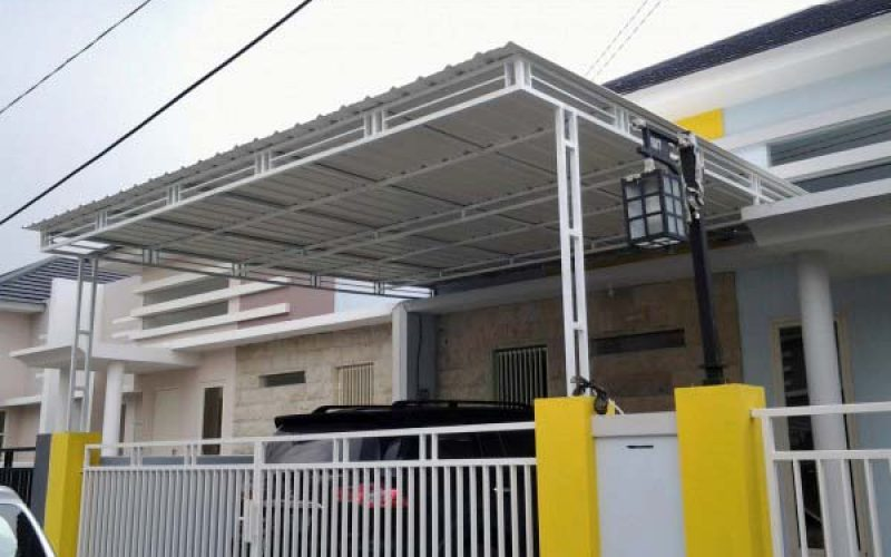 Harga Kanopi Baja Ringan, Galvalum Gresik, Surabaya